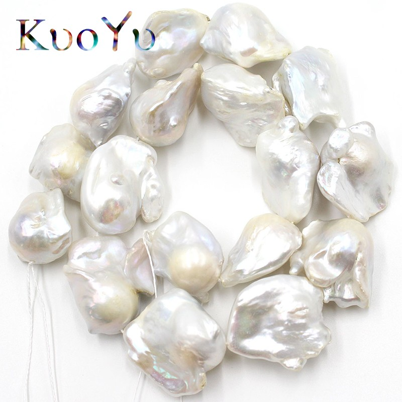 AAA 14 28mm Natural Irregular White Baroque Pearl Freshwater Loose Beads For Jewelry Making DIY Bracelets