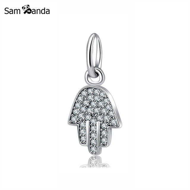 08997bac9283e Authentic 925 Sterling Silver Bead Charm Symbol Of Protection Pendant Hamsa  Hand Charms Fit Pandora Bracelets DIY Women Jewelry-in Beads from Jewelry  ...
