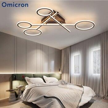 أوميكرون الحديثة الثريات الأبيض الألومنيوم الجسم مصاصة الإبداعية الدافئة مصباح ل غرفة المعيشة غرفة نوم الطعام غرفة تركيبة إضاءة