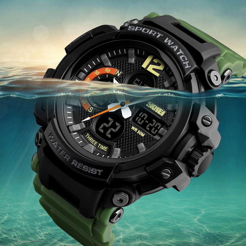 Chrono Sports Watches Mens LED Digital Quartz Watch Waterproof Electronic Military Men Wrist Watch Relogio Masculino SKMEIChrono Sports Watches Mens LED Digital Quartz Watch Waterproof Electronic Military Men Wrist Watch Relogio Masculino SKMEI