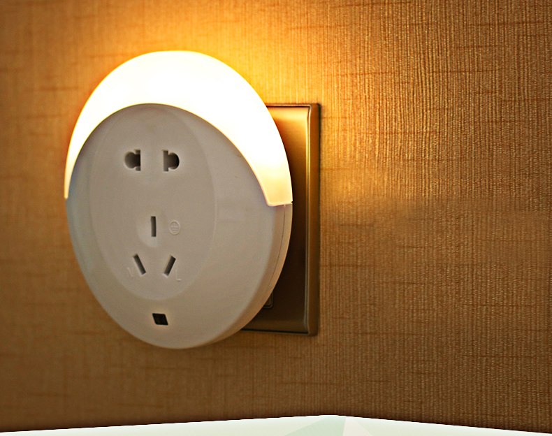 LED Night light Sensor Wall Lamp Bedside Lamp luminous With Feeding up Foot Switch