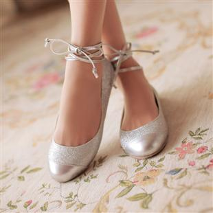 Gentil 2013 Spring And Summer Fashion Ballet Shoes Flat Heel Single Shoes Silver  Wedding Shoes Cute Shoes