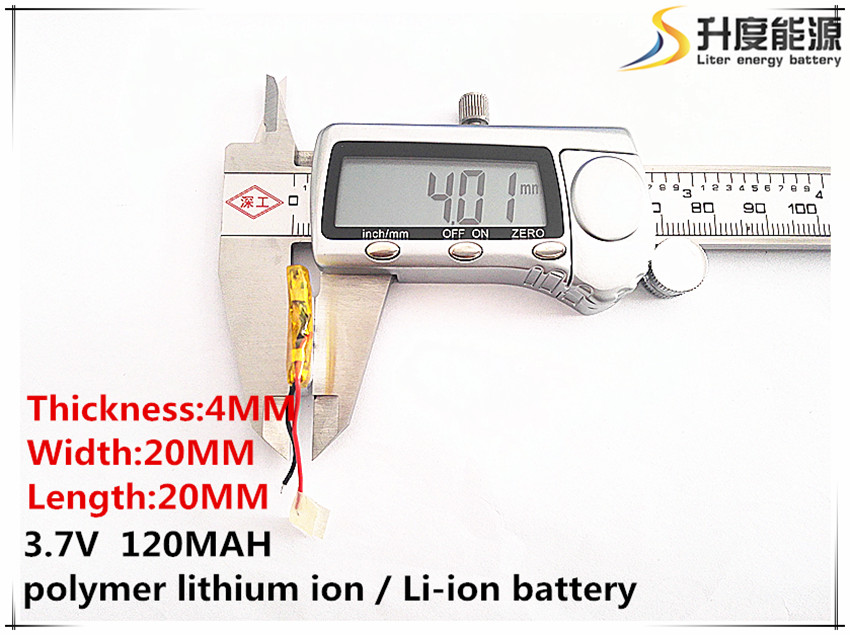 sd Polymer Lithium Ion / Li-ion Battery For Toy,power Bank,gps,mp3,mp4,cell Phone,speaker 2pcs 402020 3.7v,120mah,