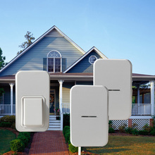 Augreener Self powered Wireless Door Bell Ring Chime 1 Button 2 Receivers US EU UK AU