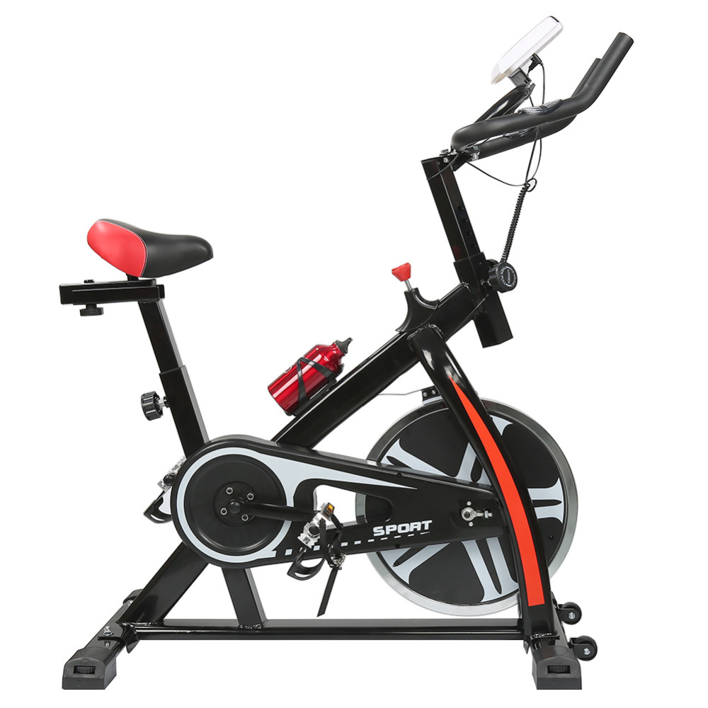 Brand 2018 Hot Sale Indoor Cycling Bike 8KG Flywheel 120Kg Bearing Indoor Spinning Bike with Kettle LED Display Dropshipping! mini multifunctional indoor indoor cycling bike stepper for the aged exercise bike with electronic meter 41 35 20cm