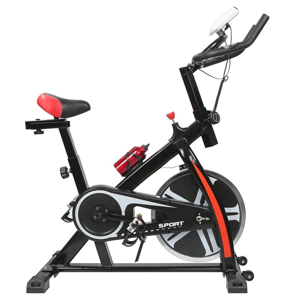 купить Brand 2018 Hot Sale Indoor Cycling Bike 8KG Flywheel 120Kg Bearing Indoor Spinning Bike with Kettle LED Display Dropshipping HWC по цене 6741.95 рублей