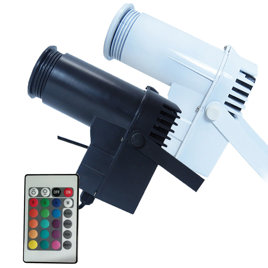BEIAIDI Remote Control 10W DJ LED Pinspot Light Disco DJ KTV Wedding Party Reflective Mirror Ball RGB Spot Light Stage Lighting