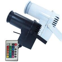 BEIAIDI télécommande 10W DJ LED Pinspot lumière Disco DJ KTV fête de mariage réfléchissant boule de miroir RGB Spot lumière éclairage de scène