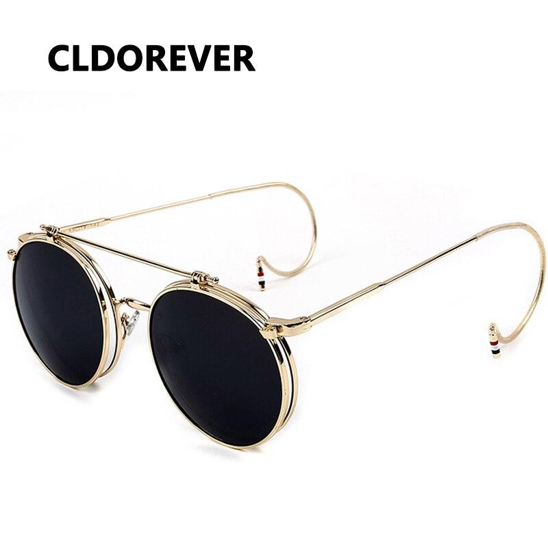 Heißer Verkauf 2018 Vintage Steampunk Sonnenbrille Metall Dampf Punk Brille Retro Runde Sonnenbrille Für Frauen Männer Marke Designer Gafas