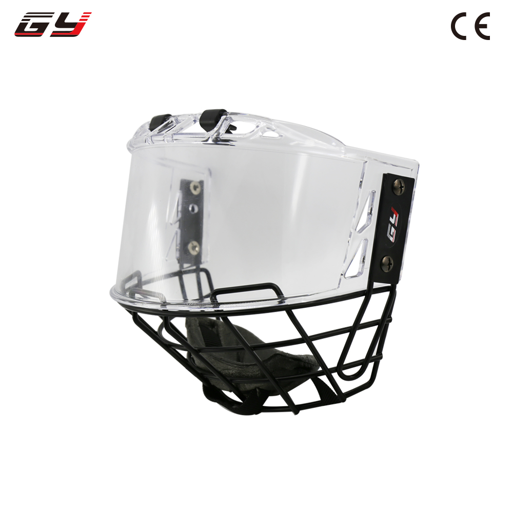 2018 winter sports free shipping combianation PC visor A3 metal mask for ice hockey helmet цена