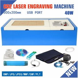 (Доставка из ЕС) 40 Вт CO2 лазерный гравер гравировальный резак для резки USB порт 220 В Бесплатная доставка