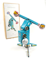 Out of print Retro MS446 spinning rocket Tin clockwork toy Machinery Collection
