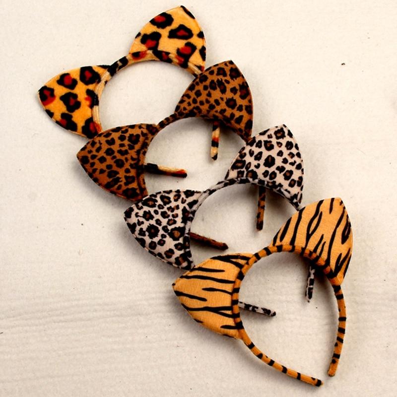 1pc Sexy Leopard Headbands Cute Cat Ear Hair Accessories For Women Girls Hairstyles   Headwear   Festival Party Hairbands Head Hoop