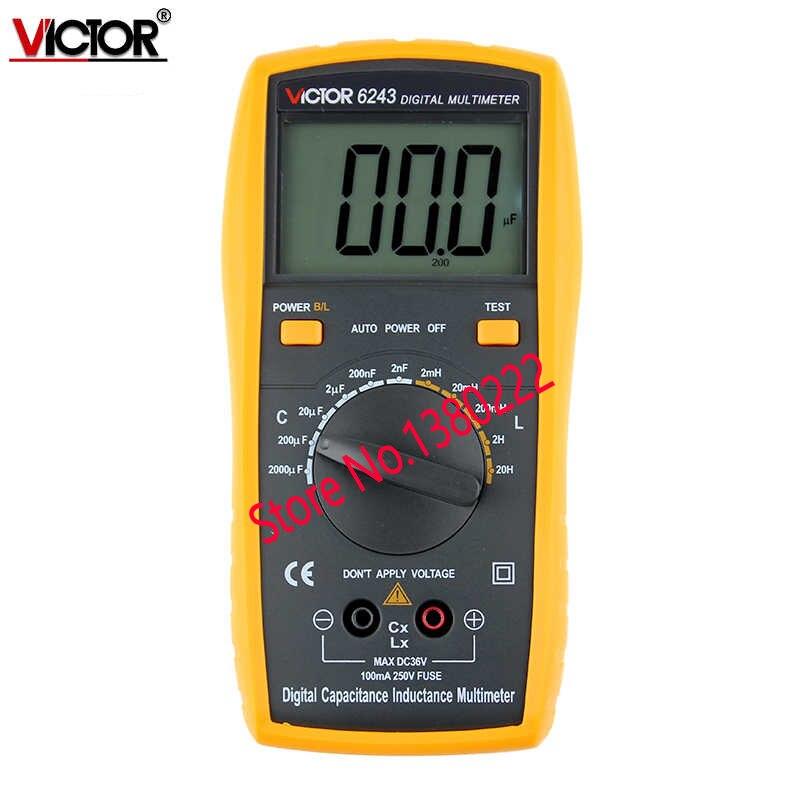 ФОТО VICTOR 6243 Capacitance/Resistance/Inductance Digital Modern Professional Inductance Capacitance Meters LR Meter Ohmmeter