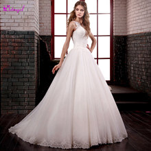 Detmgel Graceful Sweep Train A-Line Wedding Dresses 2019