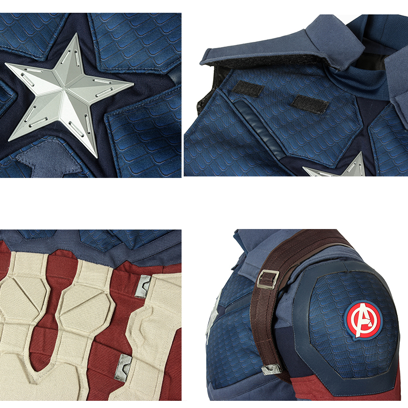 Image 5 - In Stock Avengers 4 Endgame Costume Captain America Steven Rogers Cosplay Jumpsuit Superhero Adult Halloween Outfit Custom Made-in Movie & TV costumes from Novelty & Special Use