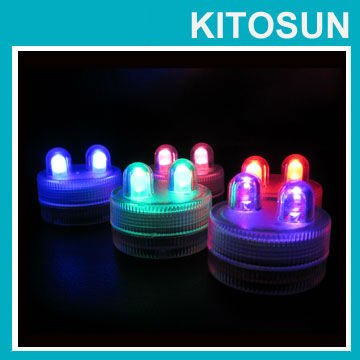 Holiday Lighting Factory Vendor Red Water Submersible /proof Dual Led Tea Light Wedding Event Centerpieces Waterproof 100lights