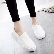 ARSMUNDI 2019 New Style Women Flat Single Shoes Round Toe Woman Breathable Canvas Casual Free Shipping M518