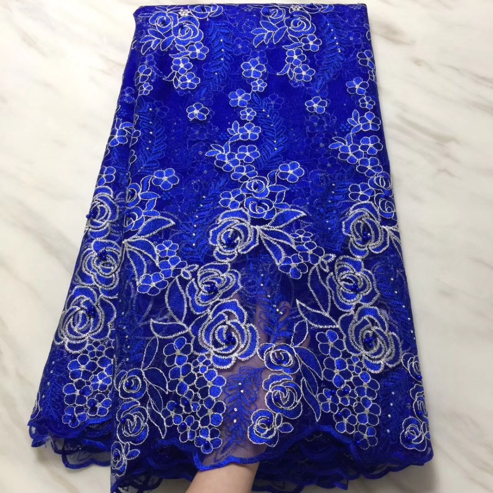 African Lace Fabrics Nigerian French Lace Fabric 2018 High Quality Tulle Fabric With beads  for dressesAfrican Lace Fabrics Nigerian French Lace Fabric 2018 High Quality Tulle Fabric With beads  for dresses
