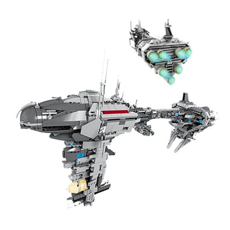 1736 шт. Star Wars Diy Небулон-B медицинской фрегат модель блоки, совместимые с Legoingly кирпич игрушки для детей brinquedos ...