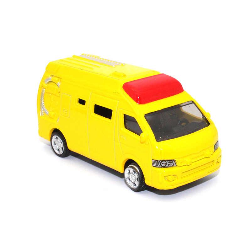 TC 1: 64 пожарный грузовик, отлитый под давлением сплав модель автомобиля открыть дверь оттяните обратно детские игрушки красивый подарок мастерства для детей