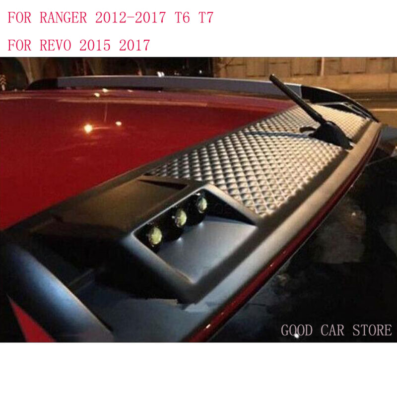 New Led Roof Light For FORD RANGER Accessories For Toyota Hilux Revo Automobile Decorative Car Styling 2012-2017 HIGH QUALITY window deflector for ford ranger injection black car wind deflector visor vent shade rain sun guard for ford ranger t6 2012 2014