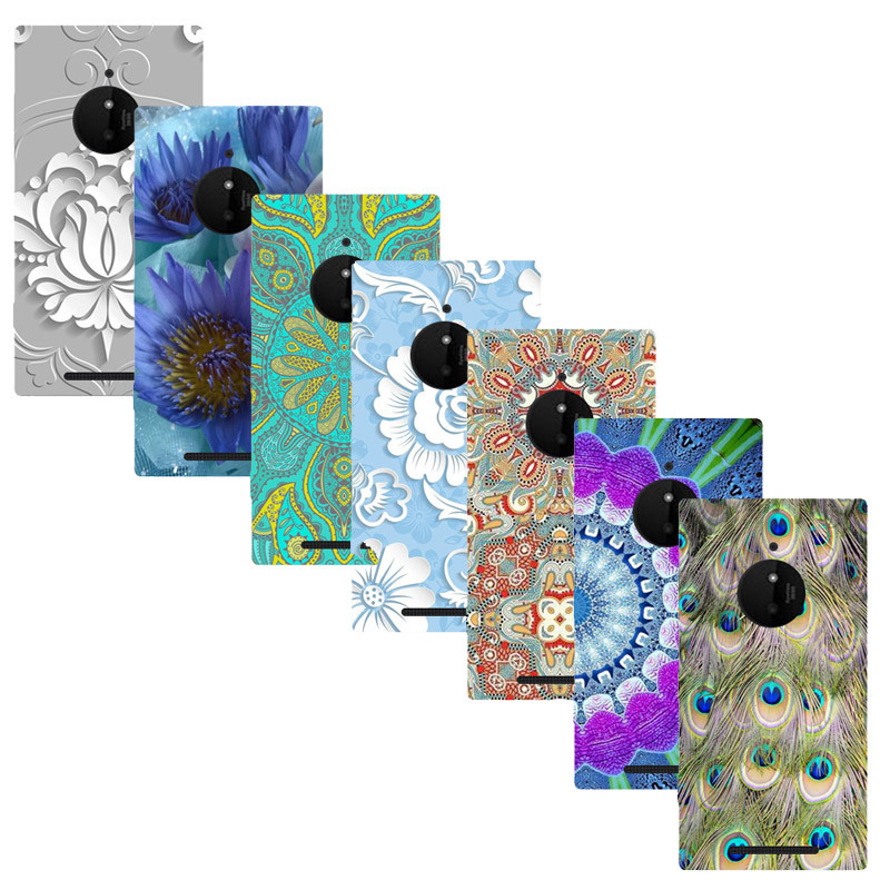 For Nokia Lumia 830 Printed Case Luxury Hard Plastic Drawing Phone Shell For Nokia Lumia 830 Flower Back Cover