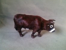 simulation cattle model toy polyethylene & furs standing cattle model ,home decoration gift t283