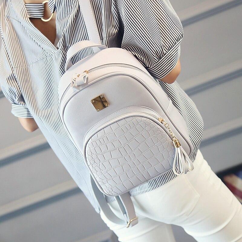enopella couro mulheres mochila mochilas Exterior : Saco Contínuo