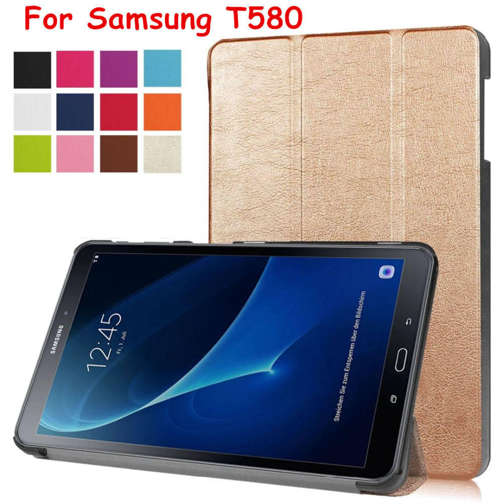 Magnet Smart Flip Cover leather case For Samsung Galaxy Tab A A6 10.1 2016 T585 T580 SM-T580 T580N Tablet Case Protective shell все цены