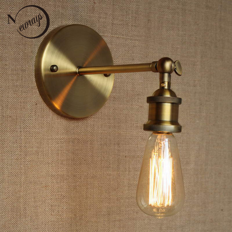 LOFT Lamp Discount Lighting Antique Gold Metal Wall Lamp