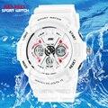 2017 montre Mujeres Deportes LED Relojes de Hombre Marca de Lujo Militar Reloj de Los Hombres LED relojes de Hora Dual Análogo-Digital Reloj Deportivo