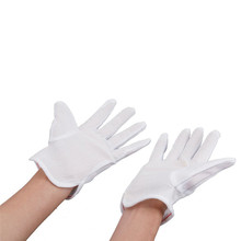 NEW 10 Pair ESD PC Computer Working Antiskid Anti-static Anti-skid White Gloves New Polyester Hot Sale
