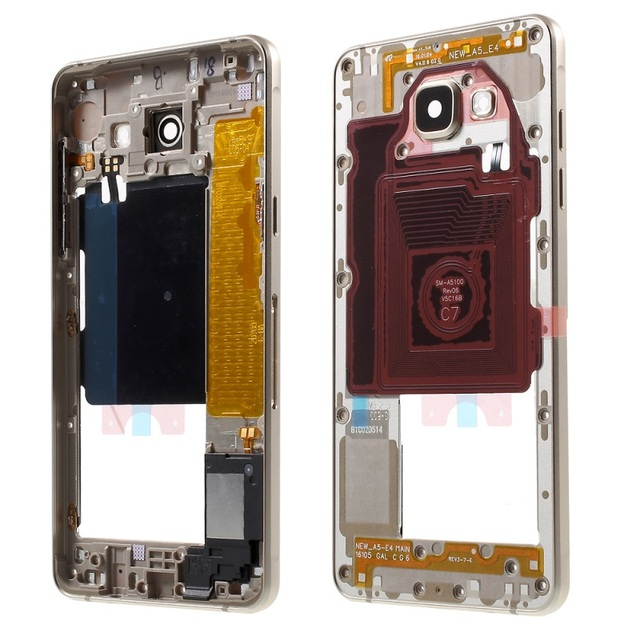 Replacement Parts For Samsung Galaxy A5 SM-A510F Middle Housing Frame with Small Parts OEM Material Assembly