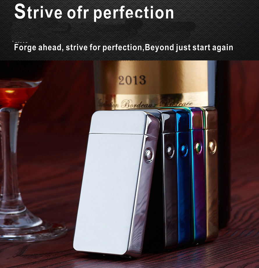 Smoking Accessories No Gas Metal Flameless Rechargeable Windproof Arc USB Electric Pulse font b Cigarette b