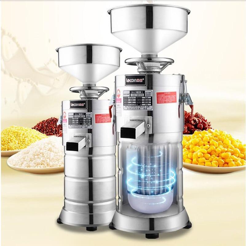 220V Commercial Full-automatic Soybean Milk Fiberizer Machine Soybean Grinder Juicer Slag Slurry Separating Stainless Steel