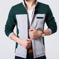 Koean Patchwork Men Brand Jackets Size M-3XL Autumn & Spring Soft Shell Men's Clothing 2015 Charm Boy Fashion Outerwear