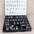 32 PCS Trança Ponto Cego Da Máquina de Costura Doméstica Calcador Darning Pé pés Kit Set Com Caixa Snap On Para O Irmão Cantor Conjunto
