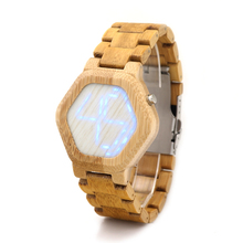 Wooden LED Digital Watches