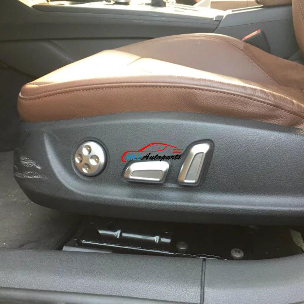 Car front seat side adjustment button knob decoration cover trim 6pcs for audi a4 b9 8w