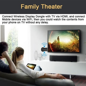 Image 5 - HDMI WiFi אלחוטי תצוגת Dongle עבור Google 2 3 כרום Crome יצוק Cromecast 2 עבור YouTube AirPlay Miracast טלוויזיה מקל