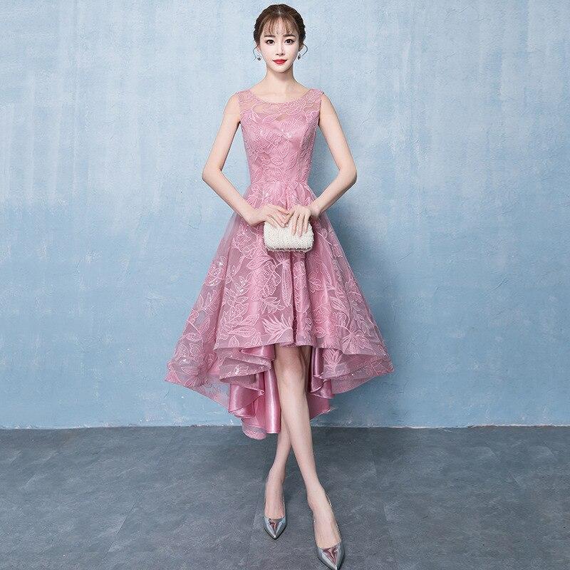 FOLOBE 2019 nouveau corsage en maille élégante robe de soirée sans manches dos transparent Empire dentelle paillettes Maxi femmes robes formelles