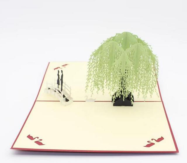 3d pop up greeting cards willow tree laser cut handmade postcards 3d pop up greeting cards willow tree laser cut handmade postcards paper carving craft valentines day m4hsunfo
