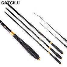 Ultra-light High-carbon 2.7/3.6/4.5/5.4Meter Telescopic Metal Rod Carp Fishing Rod Hand Pole