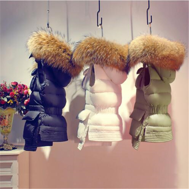 Long Down Parka Women Winter Coat 2018 Winter Women's Duck Down Jackets And Coats Female Parkas With Real Raccoon Fur Hooded
