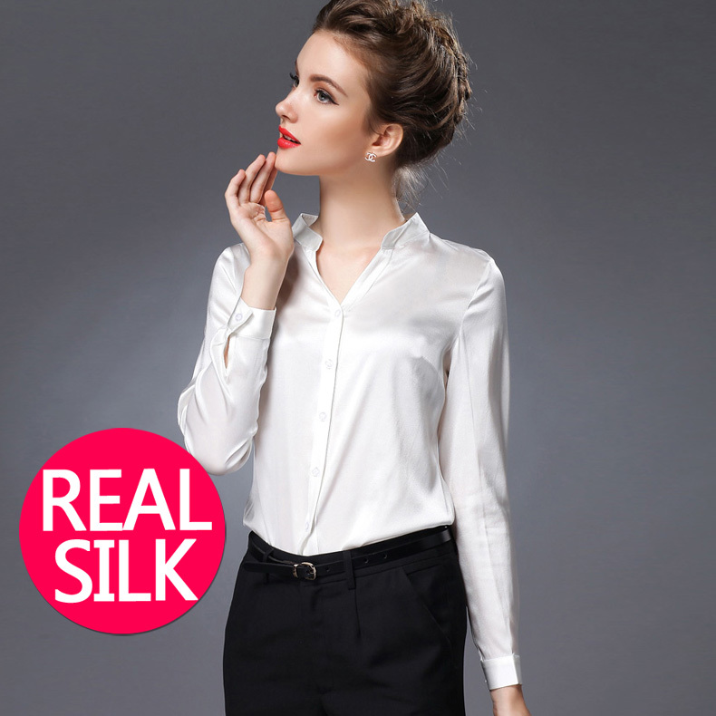 Compare Prices on Ladies White Satin Blouse- Online Shopping/Buy ...