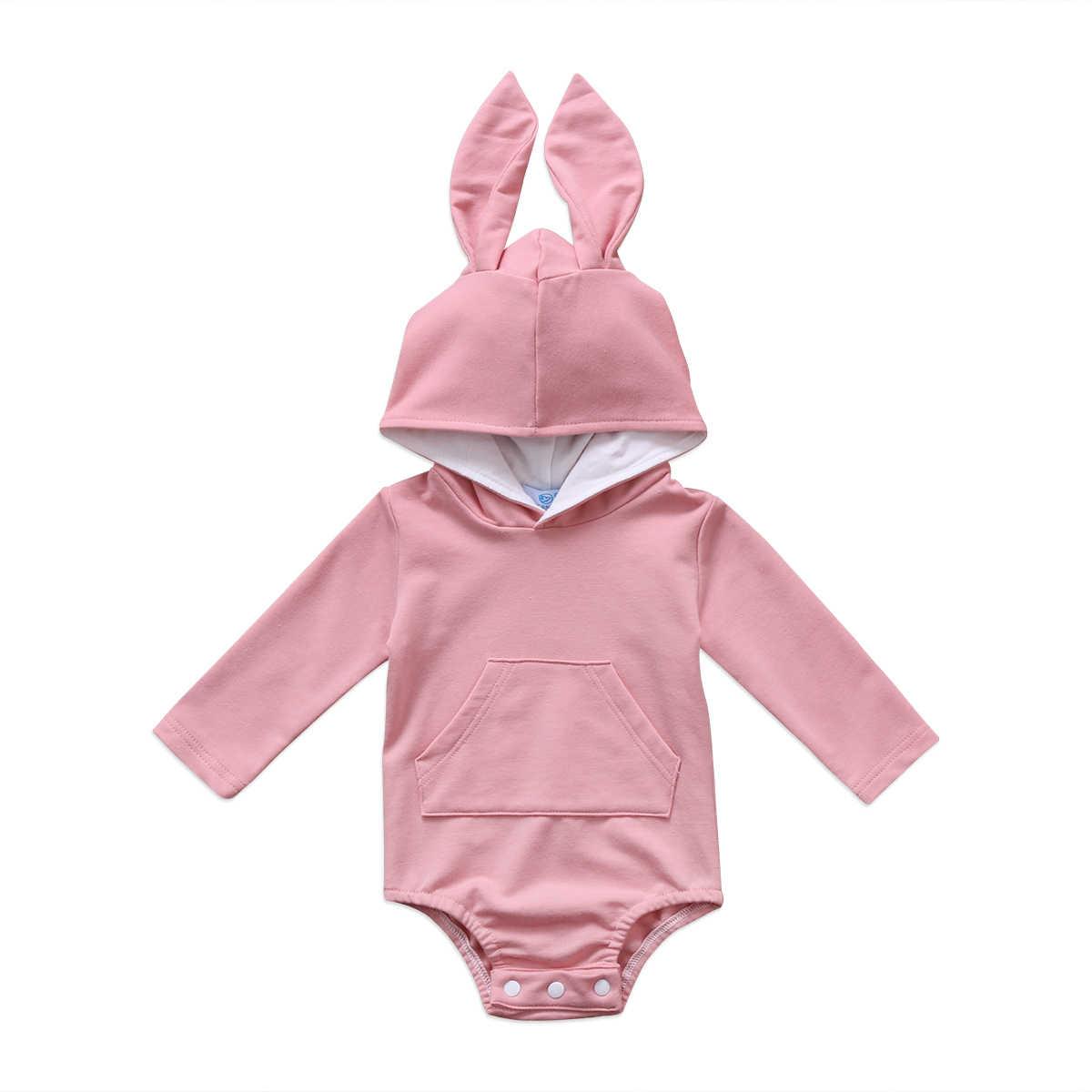 Pudcoco otoño caliente infantil recién nacido Niño bebé niña conejo con capucha  oído romper dibujos animados a0218453a40c