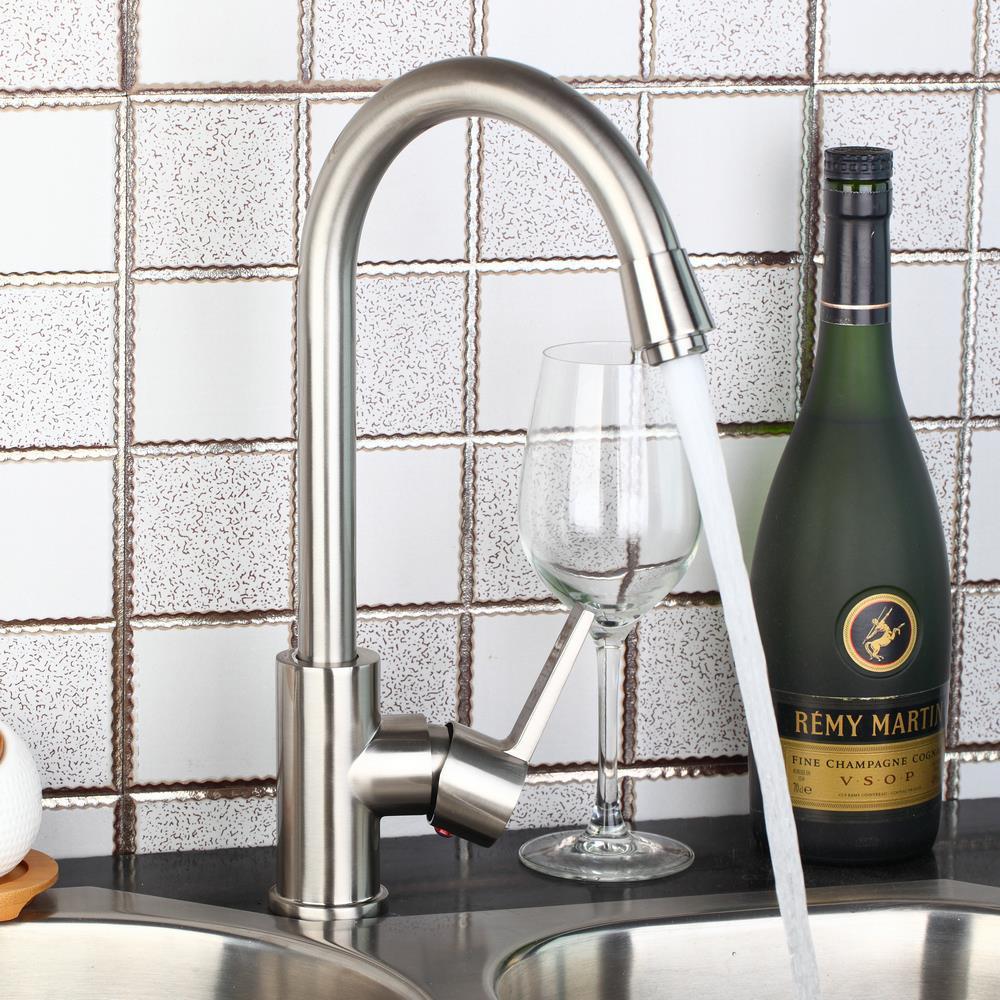 Nickel Brush Kitchen Faucet Sink Mixer Basin Swivel Spout Deck Mounted Basin Tap torneira