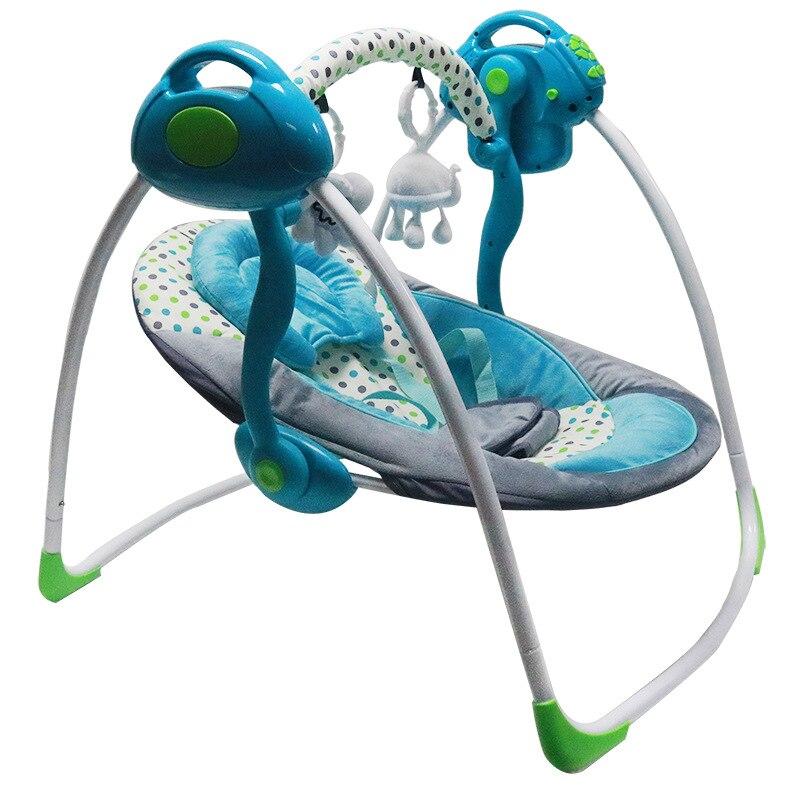 Portable pliant bébé électrique chaise à bascule balançoire musique électrique multi-fonction berceau chaise à bascule bébé videur