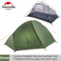 Naturehike Outdoor Single Ultralight Tent Double layer Professional Camping Riding Wild Tent Anti rainstorm|Tents| |  -